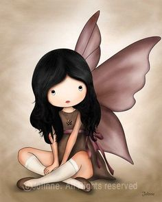 Children+Wall+Art+Baby+nursery+art+prints+Angel+fairy+by+jolinne,+$15.00: