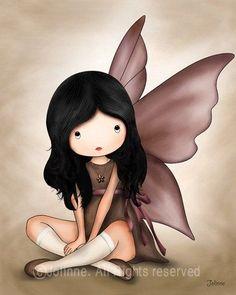 Children+Wall+Art+Baby+nursery+art+prints+Angel+fairy+by+jolinne,+$15.00: