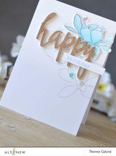 Lostinpaper - Altenew - Magnolias for Her - Birthday Greetings - Happy Die…