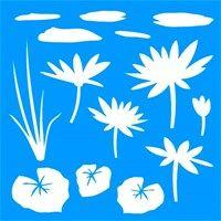 Stencil Flor de Lotus 30,5 x 30,5 - OPA