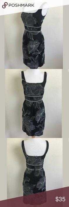 White House Black Market dress SKU: SD14674  Length Shoulder To Hem: 36 Bust: 32 Waist: 26 Fabric Content: 100% cotton Lining Fabric: 100% acetate White House Black Market Dresses