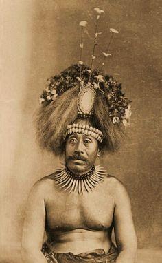 Susuga Malietoa Laupepa (1841–1898), King of Samoa, sitting for a portrait in 1893