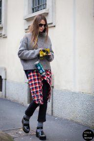 STYLE DU MONDE / Milan Fashion Week FW 2015 Street Style: Carlotta Oddi  // #Fashion, #FashionBlog, #FashionBlogger, #Ootd, #OutfitOfTheDay, #StreetStyle, #Style