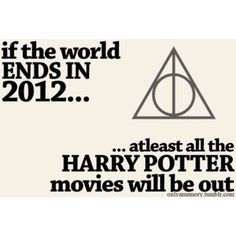 I remember distinctly having this thought when I heard about the 2012 thing. Priorities, people.