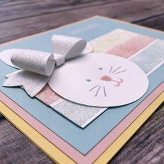 bunny glitter tape card b
