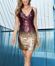 Step out to shine in this attention-grabbing dress laden with bold sequins for a night of fashion you'll never forget. Sequin Dress, Bodycon Dress, Vegas Style, Holiday Party Dresses, Burgundy And Gold, To My Daughter, Daughters, Ideias Fashion, Dressing