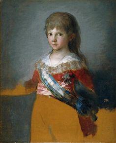 Francisco de Goya,  The Infante Don Francisco de Paula Antonio, 1800.  Museo del Prado,