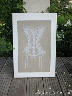 La guêpière-Mes dessous chics-lingerie-cross stitch-Point de croix-punto de cruz-Embroidery