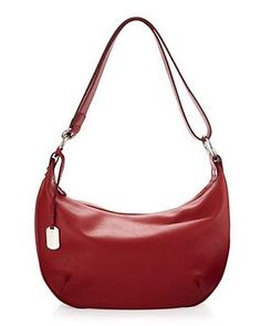 ab5cde110 NWT Authentic Furla Danielle Medium Leather Hobo Shoulder Bag in Cherry Red  | eBay