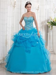 23a140e1f4a Newest Shallow Sweetheart Neckline Ball Gown Full Length Turquoise Quinceanera  Dresses