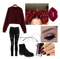 """""""ColoredHairQueen👑🌹"""" by xxbabypandaxx on Polyvore featuring GET LOST, Timberland and Lime Crime"""