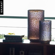These vases are beautiful when backlit by daylight.