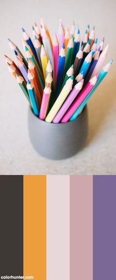Color+Pencils+In+The+Cup+Color+Scheme