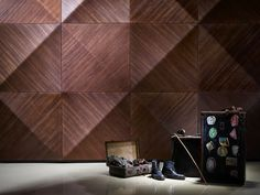 Panel de pared 3D modular de madera KALAHARI by MOKO