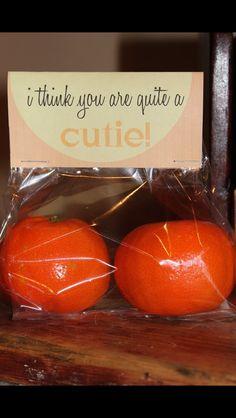 """""""You're quite a cutie"""" valentine. Super cute idea!"""
