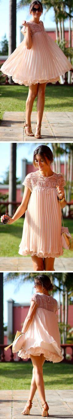 Light Pink Chiffon Twirl Dress ♥ L.O.V.E. this Dress ..SO cUte!