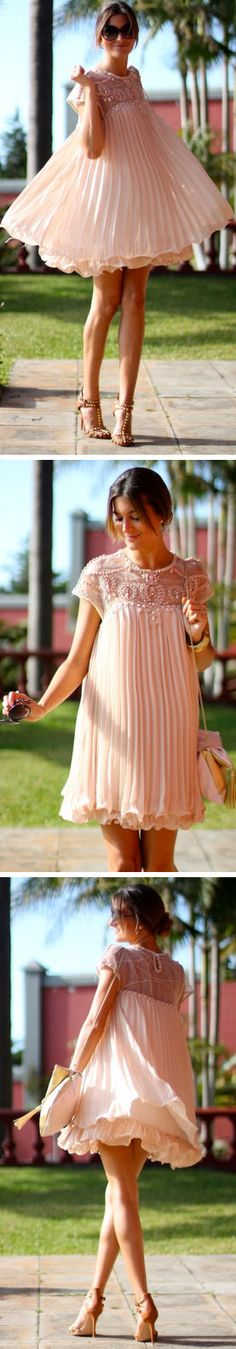 Light Pink Chiffon Twirl Dress ♥ L.O.V.E. this Dress ..SO cUte!