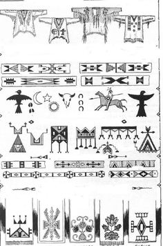 Indianer Cheyenne - indianische Piktogramme und Symbole 2
