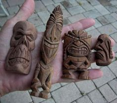 Pocket Tikis by ~tflounder  Artisan Crafts / Woodworking