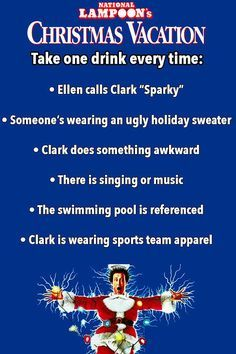 Christmas Vacation Drinking Game