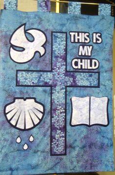 Baptism Banner - at Bethany Lutheran Church Waynesboro, VA