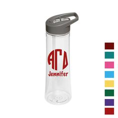 Now available Alpha Gamma Delta... Shop http://manddsororitygifts.com/products/alpha-gamma-delta-water-bottle-mono-pers?utm_campaign=social_autopilot&utm_source=pin&utm_medium=pin