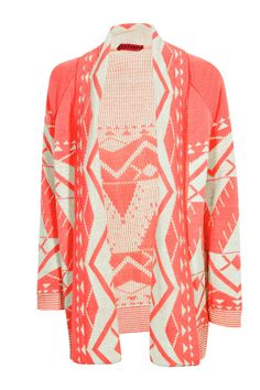 coral cardigan for the winter fall weather