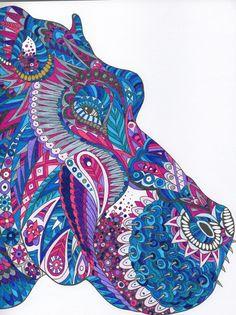 Mon Hippopotame - la ménagerie #Hippopotamus #themenagerie #colouring  the menagerie colouring book coloriage pour adultes