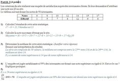 Brevet blanc de mathématiques janvier 2011 - Collège Pierre Perret