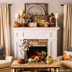 Celebrate fall with traditional harvest decor! Celebrate fall with traditional harvest decor! More from my site Rustic fall mantle decor Rustic Fall Decor, Fall Home Decor, Autumn Home, Country Decor, Fall Fireplace Decor, Fireplace Design, Fireplace Mantels, Fall Mantels, Mantles