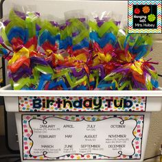 How to Make Birthday Cups I'm a grade teacher who loves coffee, books, traveling, and all things crafty and beautiful! Classroom Birthday Gifts, Student Birthday Gifts, Teacher Birthday, School Birthday, Birthday Cup, First Grade Classroom, New Classroom, Student Gifts, Kindergarten Classroom