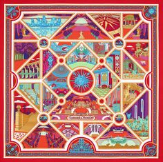silk Hermes scarf to benefit the restoration of the Palace of Versailles