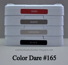 Welcome to this weeks Color My Heart Color Challenge! This week for Color Dare #165 we are featuring RUBY, SLATE, WHISPER, & BLACK. I decided I wanted to give a new stamp set a try ~ Hexago…