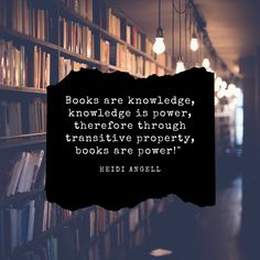 Quotes about books are almost as good as reading books themselves! Books To Read, Reading Books, Im Back, Knowledge Is Power, The Book, Letter Board, Good Things, Quotes, Link