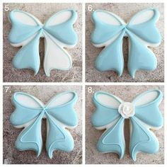 Learn how to make the most PERFECT bow sugar cookies ever with Delorse from Sword's Sugars! Learn how to make the most PERFECT bow sugar cookies ever with Delorse from Sword's Sugars! Fancy Cookies, Iced Cookies, Cute Cookies, Easter Cookies, Birthday Cookies, Cupcake Cookies, Sugar Cookies, Christmas Cookies, Cookie Favors