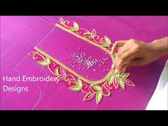 In hand embroidery designs, how to make blouse cutting in online. online maggam, zardosi, mirror work blouses, sarees available online shopping Title : simpl. Peacock Blouse Designs, Cutwork Blouse Designs, Simple Blouse Designs, Handmade Embroidery Designs, Hand Embroidery Tutorial, Aari Embroidery, Mirror Work Blouse Design, Hand Work Design, Maggam Work Designs
