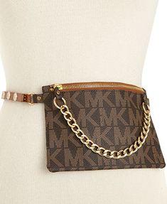 MICHAEL Michael Kors Belt, MK Logo Leather Belt Bag @Glenda Brady Michael Kors took your advice and made a cute fanny pack.