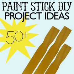 Over fifty DIY projects using paint sticks. I scanned through the list and some of these look really neat. I found at least a couple that I'd really like to try.