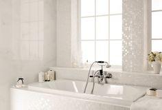Nuove tonalità Four Seasons 2013 - Mosaico Snow + Selection Statuario 40x80 + spigoli