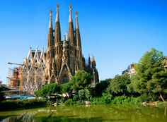 Sagrada Familia, Barcelona, Spain. Work began in 1882 and is not expected to be completed until 2026!  From10 Most Strange Looking Buildings.  Follow the source link for more info.