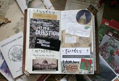 Travel Journal pages, inspiration and ideas for keeping an art journal or a travel journal