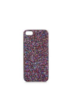 Violet (Violet) Coque pour iPhone 5 violette à paillettes   320714550   New Look