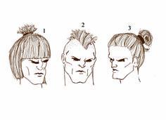 Peinados guerreros.