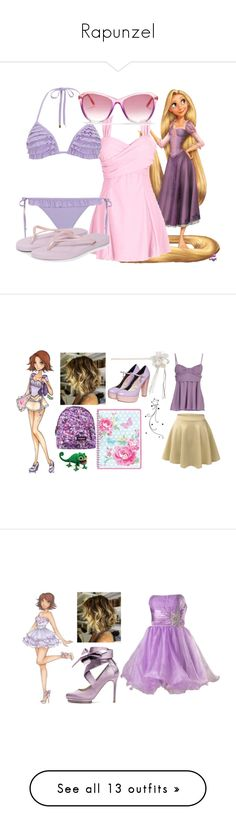 """""""Rapunzel"""" by dutchveertje ❤ liked on Polyvore featuring Dorothy Perkins, Havaianas, Wildfox, disney, rapunzel, disneybound, tangled, disneycharacter, Disney and LE3NO"""
