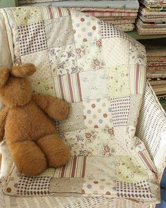 Handmade patchwork style quilt by myself by cottonblue, via Flickr