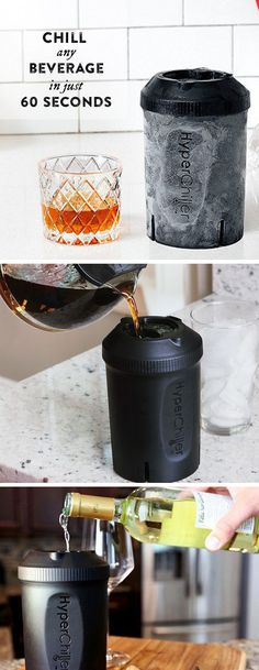 Turn drinks—even hot coffee straight from the pot—ice cold in 60 seconds. This chilling capsule stays in the freezer and is ready when you are. An easy way to make iced coffee.