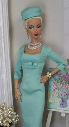 Classic Sheath Dress for Silkstone Barbie and Victoire Roux OOAK Doll Fashion