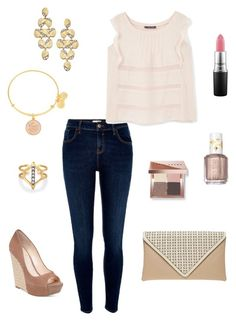 """Untitled #254"" by kmysoccer on Polyvore featuring River Island, Violeta by Mango, Bobbi Brown Cosmetics, Essie, Dorothy Perkins, Alex and Ani, Jessica Simpson, Stella & Dot, Blu Bijoux and MAC Cosmetics"