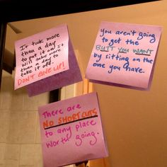 Motivational Quotes on Your Mirror: Sometimes it helps to have little visual reminders. Would quotes about weight loss, working out, or healthy eating posted on your mirror or scale help you stick with weight-loss goals?