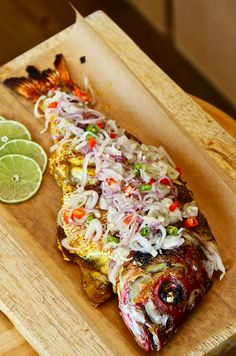 Broiled Red Snapper Serve With Balinese Spicy Lime and Shallots Sambal